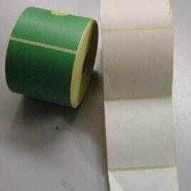 Rotolone targhette bianche adesive cm 10 x 10